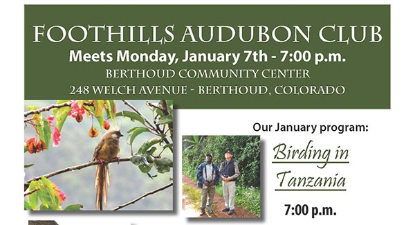FAC feature January2013 Audubon Club meeting for January