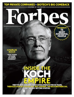 Forbes cover 250p The Koch Brothers Empire: ruling America