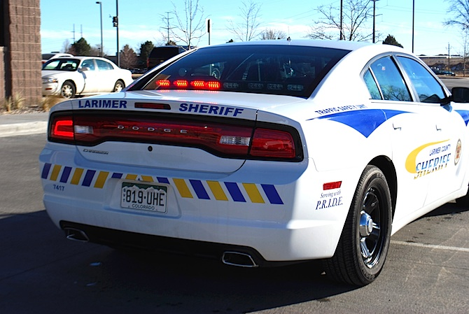 LCSO Vehicle Markings Larimer Sheriff patrol cars to be more visible
