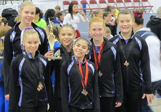 2013 Metroplex Challenge 3rd place Level 8 Team Premier Gymnastics of the Rockies 2013 Metroplex Challenge
