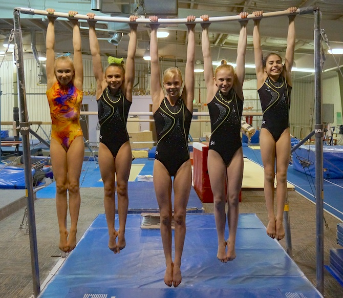 Level 8 Regional Team Bar Local gymnasts compete in Oklahoma