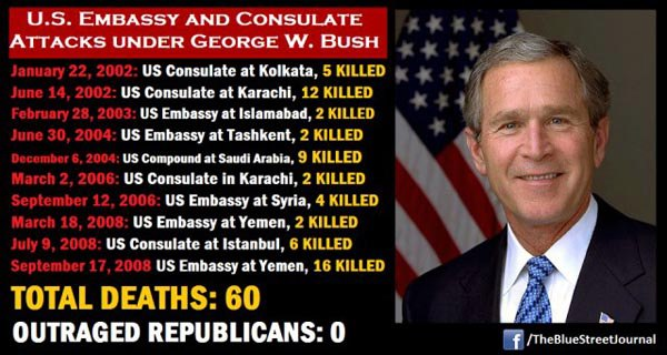 Bush embassy attacks 13 Benghazis That Occurred on Bush's Watch