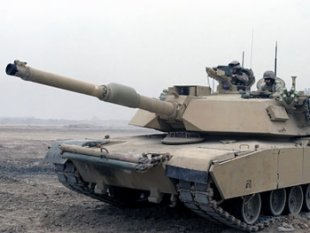 m1a1 abrams tank in camp fallujah retouched Destroying Iraq