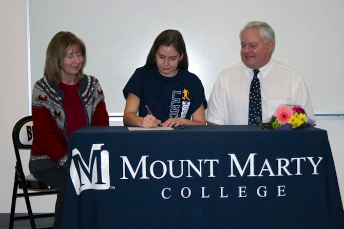sterck signs1 Berthoud Athlete Signs with Mount Marty College