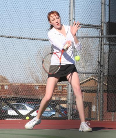 Lady Spartans Come Up Short in Girls Tennis Opener