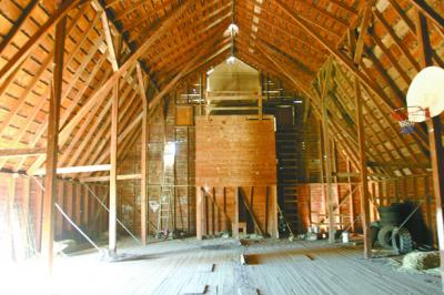 N Hoffman%20Barn%20012%20Grain%20bin%20below%20hay%20door%20Note%20beams%20providing%20support%20for%20roof DC.tif0006 Hoffman Stroh Wynn Barn Survives Good and Bad Times