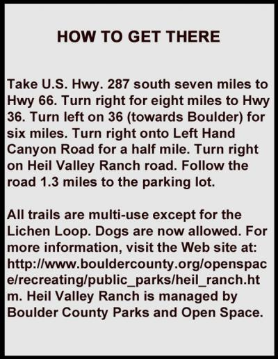 heil%20directions 0 Outdoors Near Your Backdoor:  Not Far from Berthoud, Heil Valley Ranch is a Great Escape