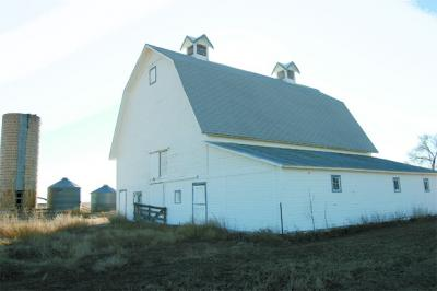 inset%20cutout Hoffman%20Barn%20028%20north%20and%20east%20elevation%20of%20Hoffman%20barn.%20Silo%20and%20grain%20bins%20in%20rear.tif0003 Hoffman Stroh Wynn Barn Survives Good and Bad Times