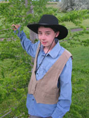 Preston Ross, ready to start the trek