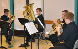 Entertainment was provided by Mountain View Brass Quintet