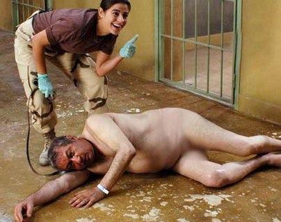 Torturing an Iraqi prisoner