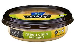 Falfel green chile hummus